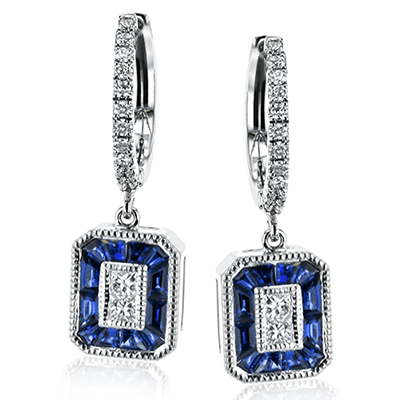 SIMON G 18K GOLD WITH WHITE DIAMOND EARRINGS - M&R Jewelers