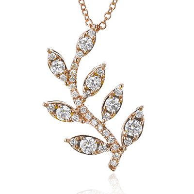 SIMON G 18K GOLD WITH WHITE DIAMOND NECKLACE - M&R Jewelers