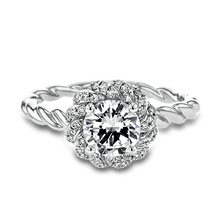 Load image into Gallery viewer, SIMON G PLATINUM WHITE LR1133 ENGAGEMENT RING - M&R Jewelers
