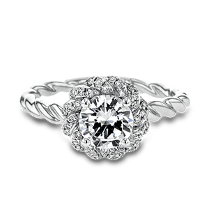 SIMON G PLATINUM WHITE LR1133 ENGAGEMENT RING - M&R Jewelers