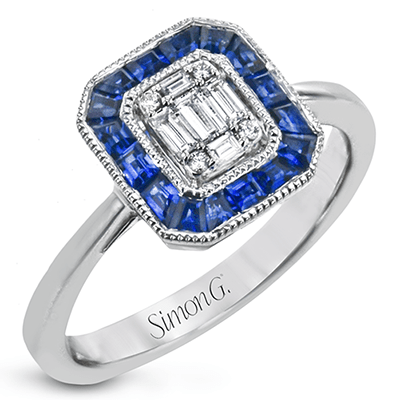SIMON G 18K GOLD WITH WHITE DIAMOND RING - M&R Jewelers