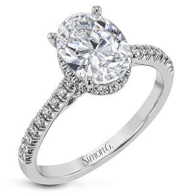 SIMON G 18K GOLD WITH WHITE DIAMOND LR2345 ENGAGEMENT RING - M&R Jewelers