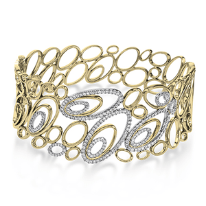 Copy of SIMON G 18K YELLOW GOLD WHITE MB4046 BANGLE - M&R Jewelers