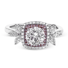 Load image into Gallery viewer, SIMON G 18K GOLD WITH WHITE & ROSE DIAMOND MR2826 ENGAGEMENT RING - M&R Jewelers