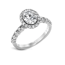 Load image into Gallery viewer, SIMON G 18K GOLD WHITE MR2878 ENGAGEMENT RING - M&R Jewelers