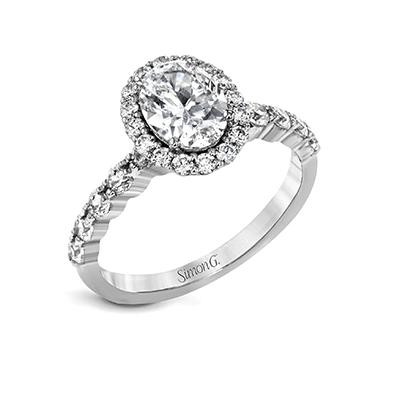 SIMON G 18K GOLD WHITE MR2878 ENGAGEMENT RING - M&R Jewelers