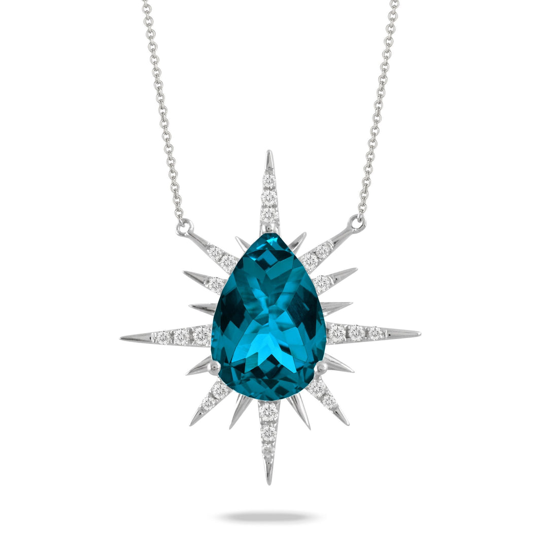 DOVES JEWELRY LONDON BLUE PENDANT - M&R Jewelers