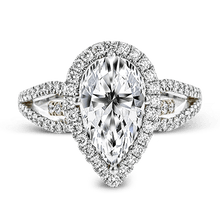 Load image into Gallery viewer, SIMON G 18K GOLD WHITE & ROSE NR467 ENGAGEMENT RING - M&R Jewelers