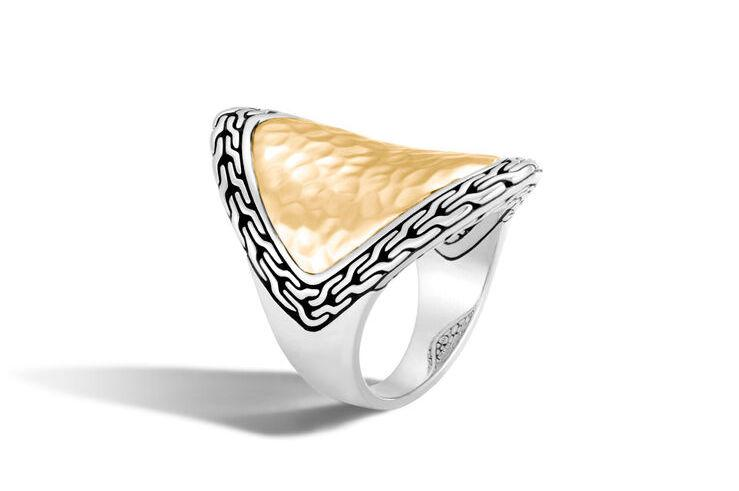 Classic Chain Hammered Saddle Ring - M&R Jewelers