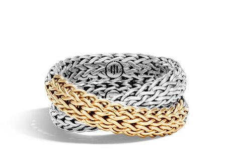 Classic Chain Overlap Ring - M&R Jewelers