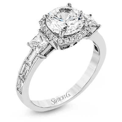 SIMON G 18K GOLD WHITE TR597 ENGAGEMENT RING - M&R Jewelers