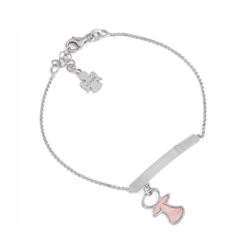 Bracelet Mom with Angel - M&R Jewelers