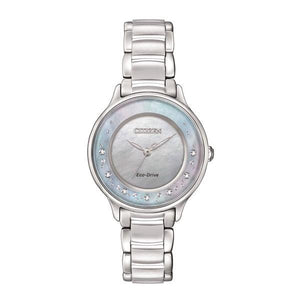 CITIZEN ECO-DRIVE WOMEN'S CIRCLE OF TIME SILVER-TONE WATCH