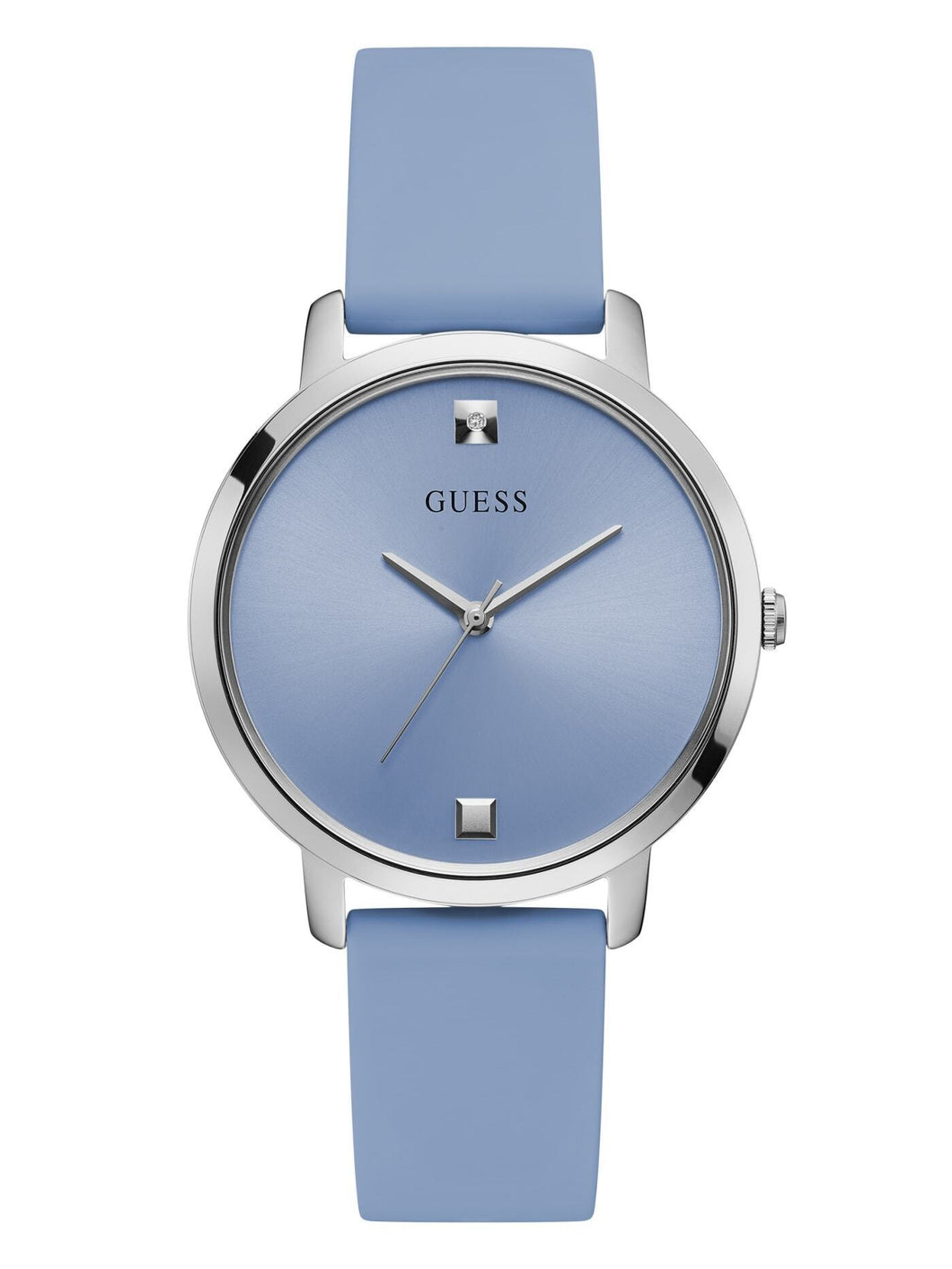 GUESS BLUE AND SILVER-TONE ANALOG WATCH U1210L4 - M&R Jewelers
