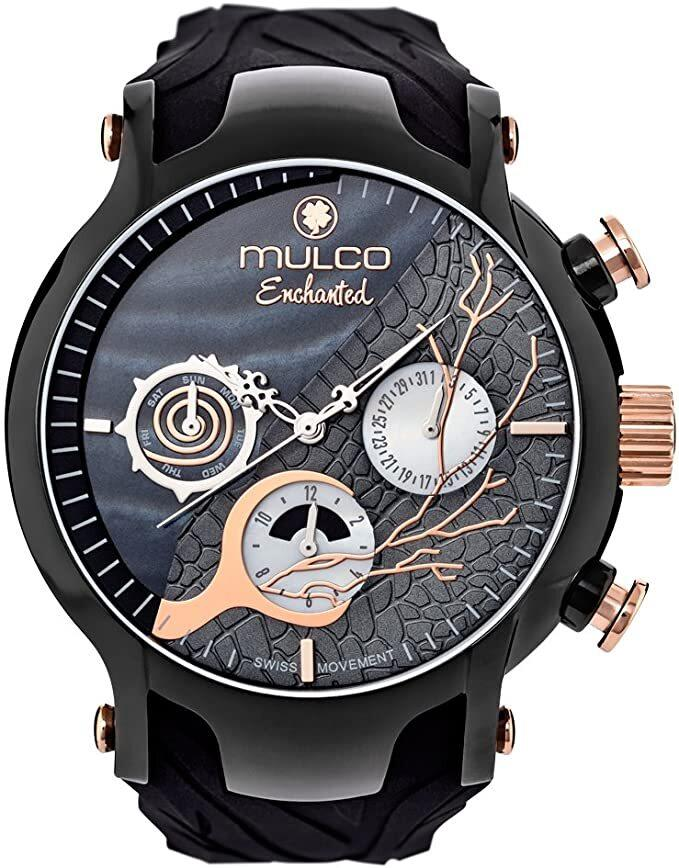 MULCO MW5-3812-025 ENCHANTED WOODS COLLECTION BLACK SILICONE BAND - M&R Jewelers