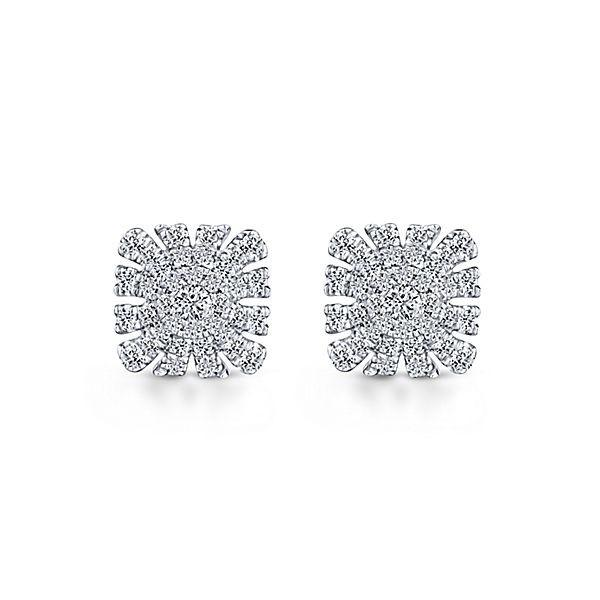 14K WHITE GOLD STUD DIAMOND EARRINGS EG13392W45JJ