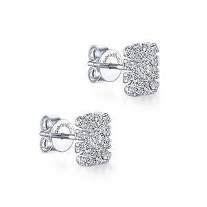 14K WHITE GOLD STUD DIAMOND EARRINGS EG13392W45JJ - M&R Jewelers