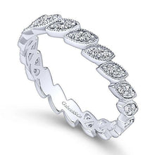 Load image into Gallery viewer, LR4652W45JJ 14K WHITE GOLD STACKABLE DIAMOND LADIES' RING - M&R Jewelers