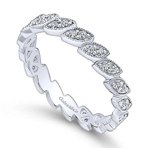 LR4652W45JJ 14K WHITE GOLD STACKABLE DIAMOND LADIES' RING - M&R Jewelers