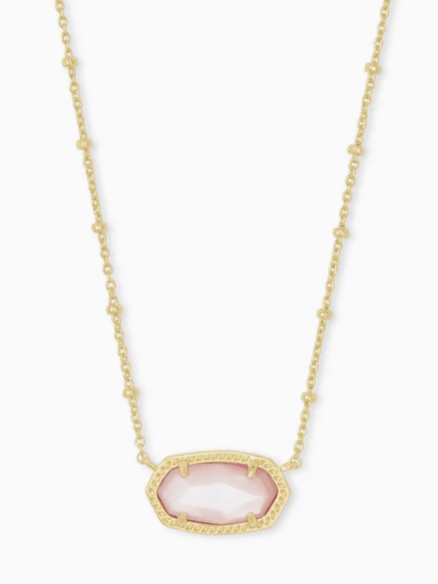 Kendra Scott-Elisa Satellite Gold metal Pendant Necklace In Rose Mother Of Pearl-4217718169