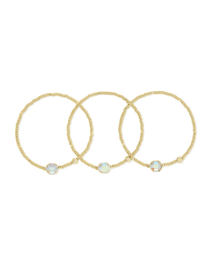 TOMON GOLD STRETCH BRACELET IN DICHROIC GLASS 4217709033