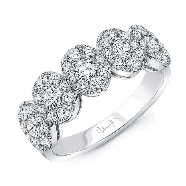 UNEEK ROUND DIAMOND BAND WITH OVAL-SHAPED CLUSTERS, IN 18K WHITE GOLD LVBRI885W