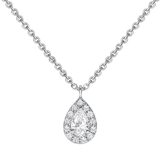 UNEEK PEAR DIAMOND NECKLACE, IN 18K WHITE GOLD LVNWF372W