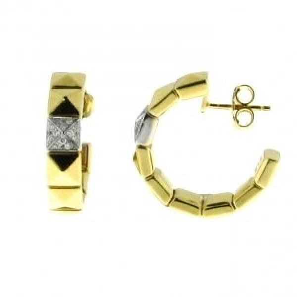 CHIMENTO TWO-TONE GOLD EARRINGS WITH DIAMONDS