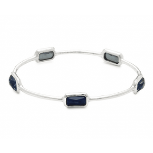 IPPOLITA ROCK CANDY ONYX, CLEAR QUARTZ & STERLING SILVER BANGLE