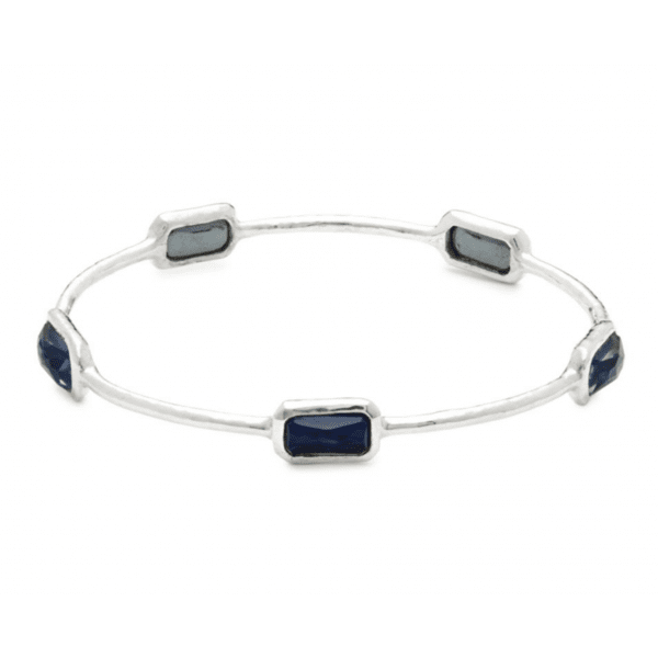 IPPOLITA ROCK CANDY ONYX, CLEAR QUARTZ & STERLING SILVER BANGLE - M&R Jewelers