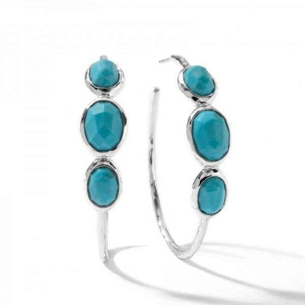 IPPOLITA MEDIUM HOOP EARRINGS IN STERLING SILVER