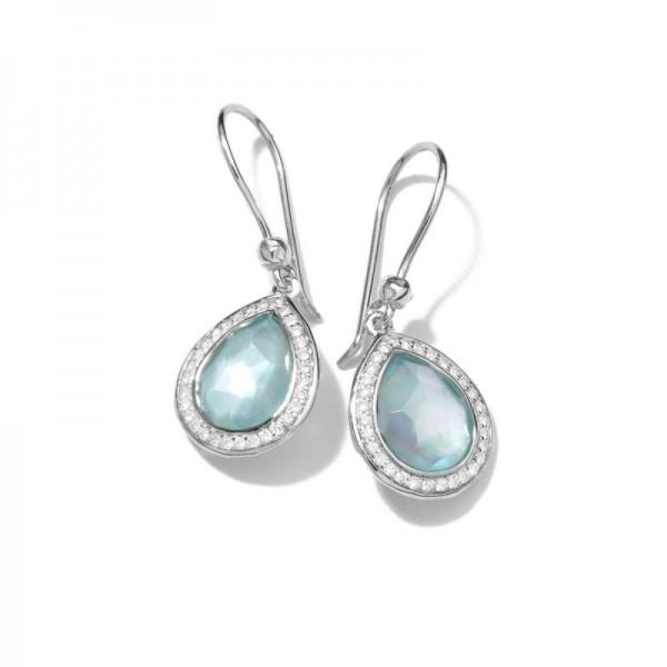 IPPOLITA MINI TEARDROP EARRINGS IN STERLING SILVER WITH DIAMONDS