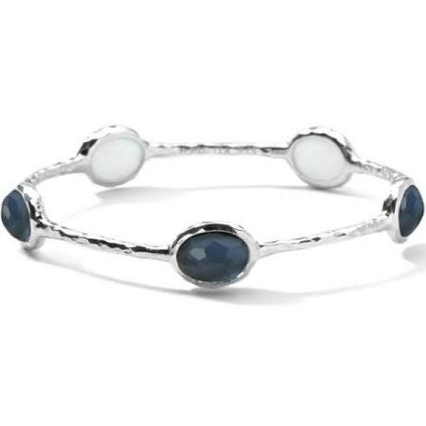 WONDERLAND BANGLE IN STERLING SILVER INDIGO