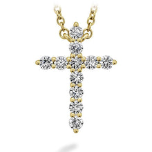Load image into Gallery viewer, HEARTS ON FIRE SIGNATURE CROSS PENDANT