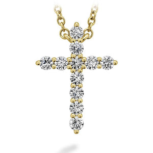 HEARTS ON FIRE SIGNATURE CROSS PENDANT