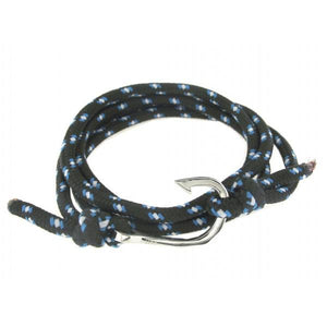 STAINLESS STEEL HOOK WITH BLUE LISBON ROPE - M&R Jewelers