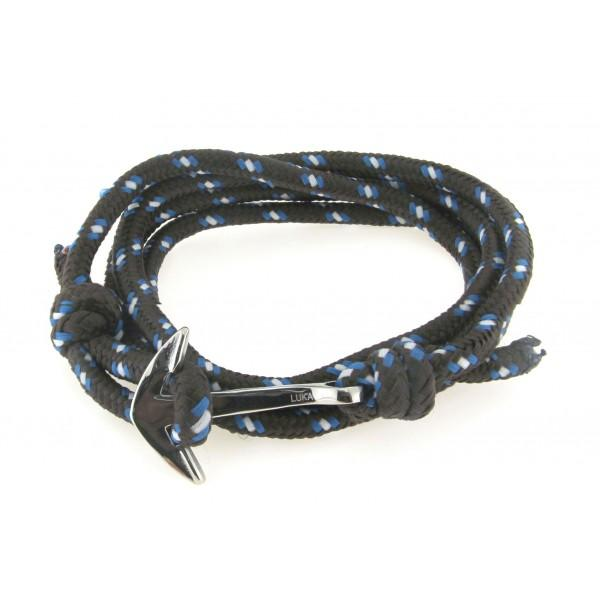 STAINLESS STEEL ANCHOR WITH BLUE LISBON ROPE - M&R Jewelers