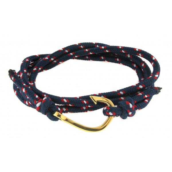 HOOK ROPE & YELLOW STAINLESS STEEL BLUE - M&R Jewelers