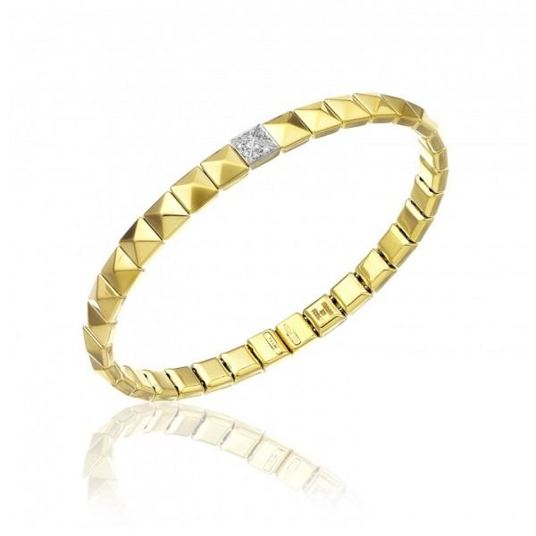 CHIMENTO ARMILLAS PYRAMIS BRACELET IN 18 KT GOLD JEWELS - M&R Jewelers
