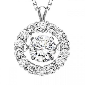 "14KT WHITE GOLD ""RHYTHM OF LOVE"" NECKLACE - M&R Jewelers"