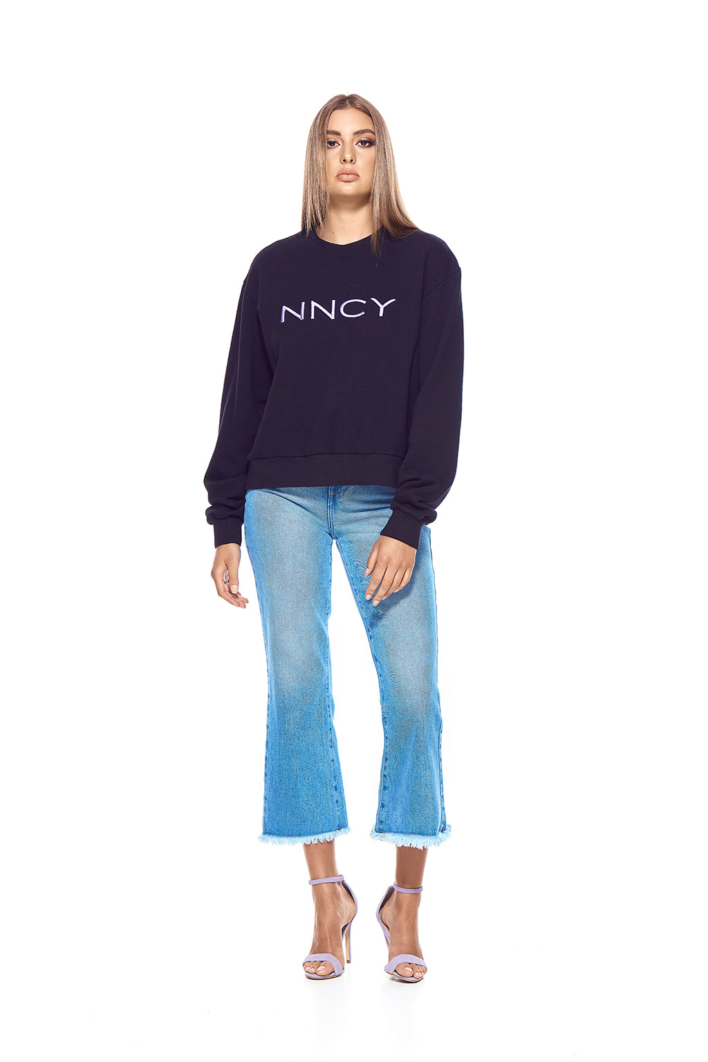 NNCY Oversized Logo Sweater - Black