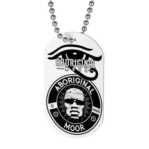 Aboriginal Moor Peace to the God (Silver) Dog Tag