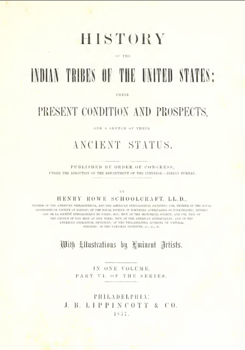 1860 Archives of aboriginal knowledge Vol 6