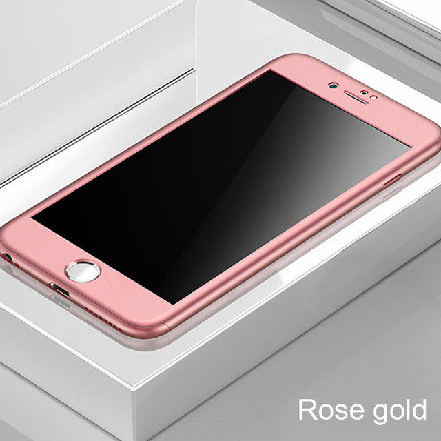 360 Full Cover Phone Case For iPhone 7 6 6s 8 Plus 5 5s SE Protective Cover For iPhone 7 8 Plus 11 Pro XS MAX XR Case With Glass