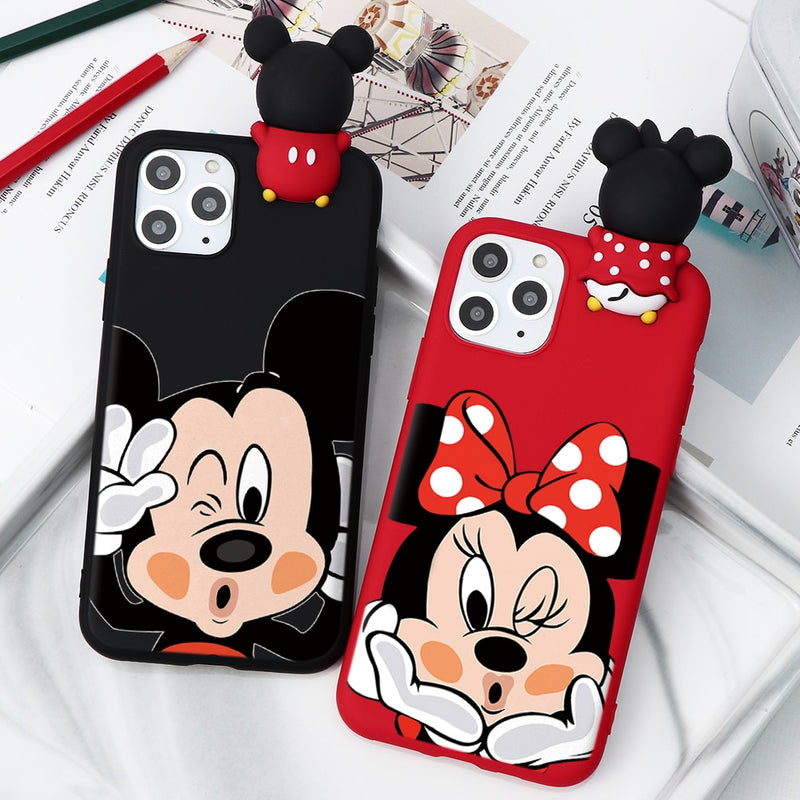 Cartoon Couple Fashion Case For iPhone XR 11 Pro XS Max X 5 5S Silicone Matte Cover For iphone 7 8 6 S 6S Plus 7Plus Case Girls 1 2