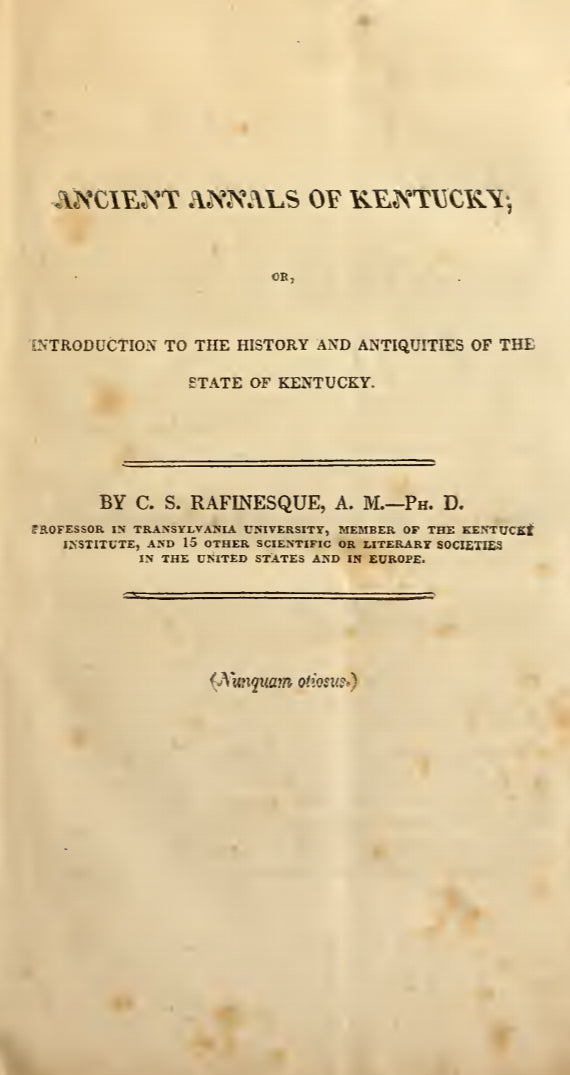 1824 Ancient history, or, Annals of Kentucky
