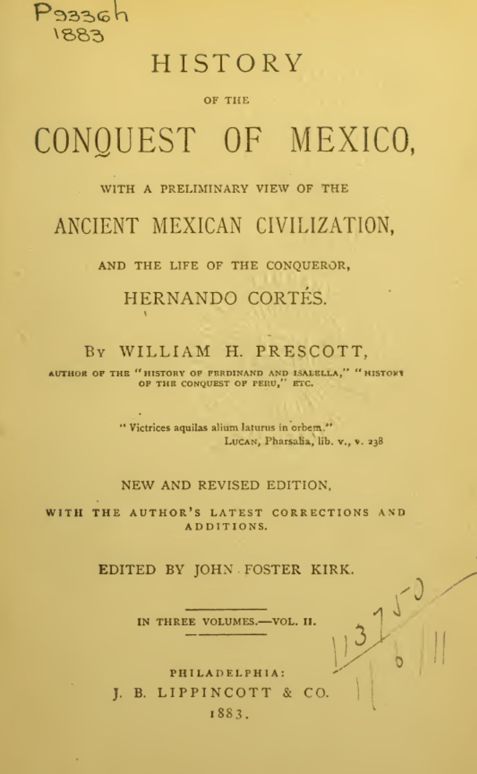 1843 History of the conquest of Mexico Vol 2