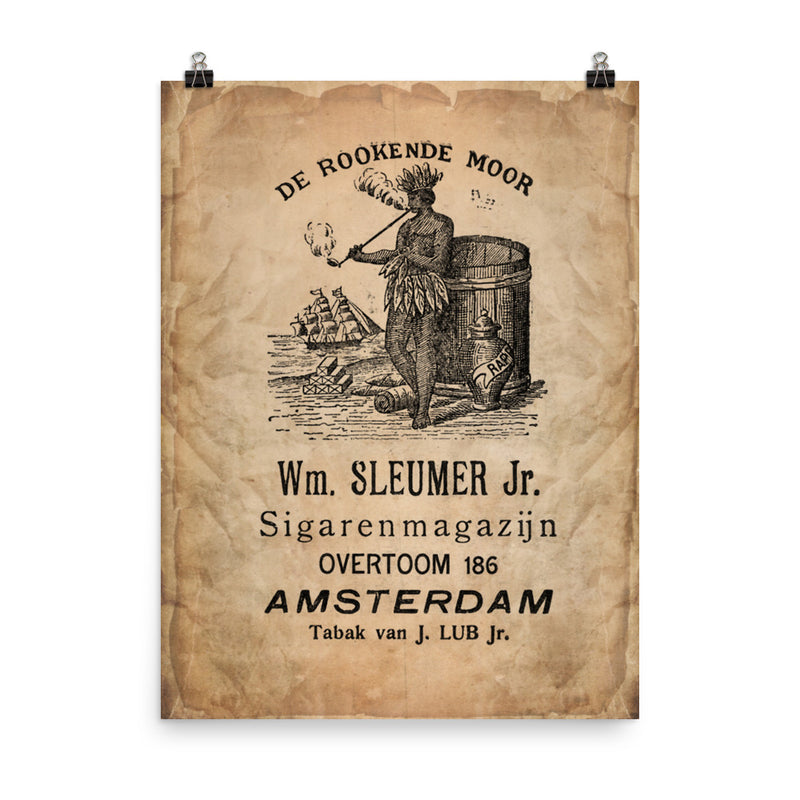 "1900 - 1910 ""DE ROOKENDE MOOR Cigar Bag"" Photo paper poster"