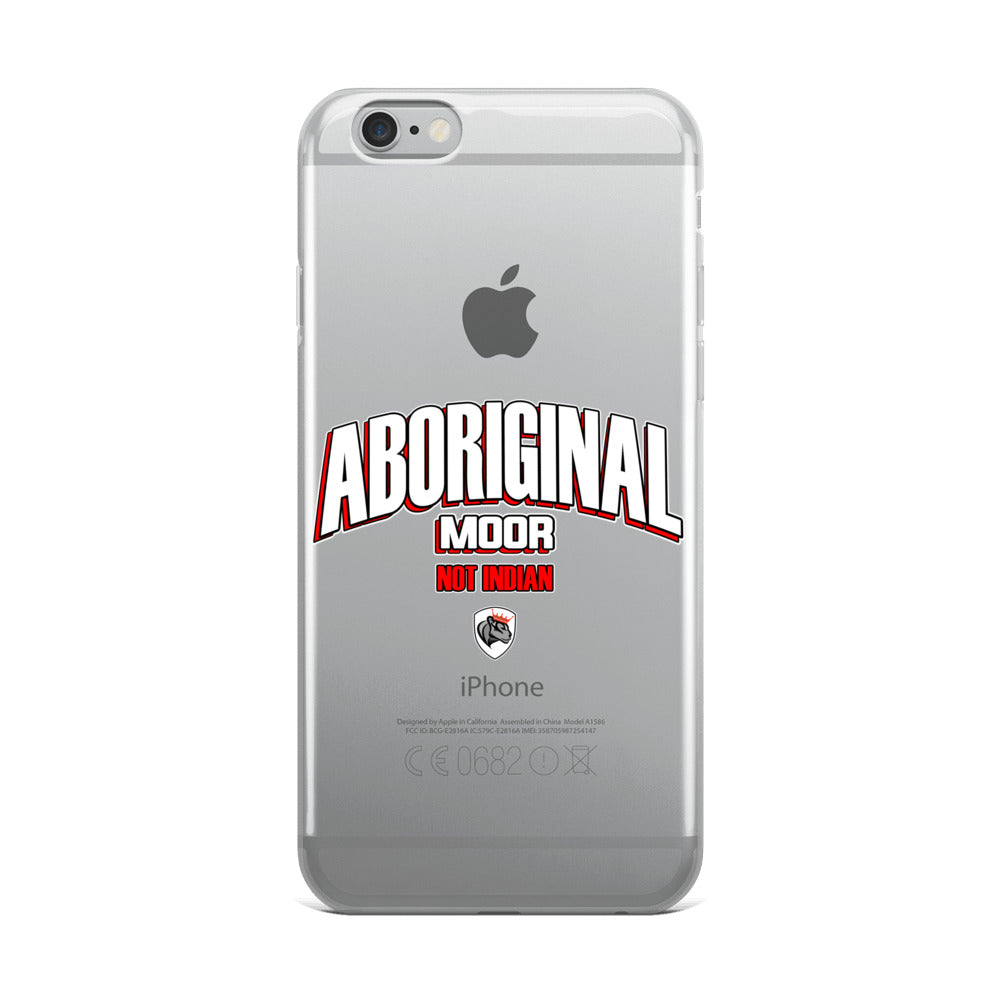 Aboriginal Moor not Indian iPhone Case