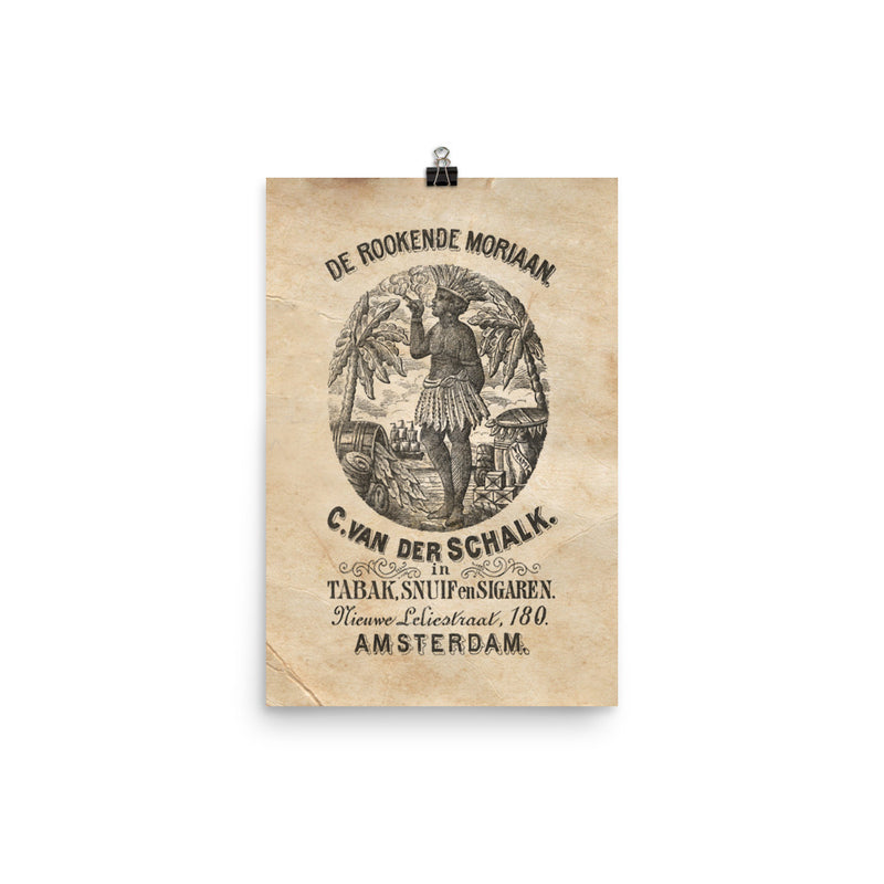 "1880 - 1895 ""Cigar Bag & The Moriaan"" Photo paper poster"